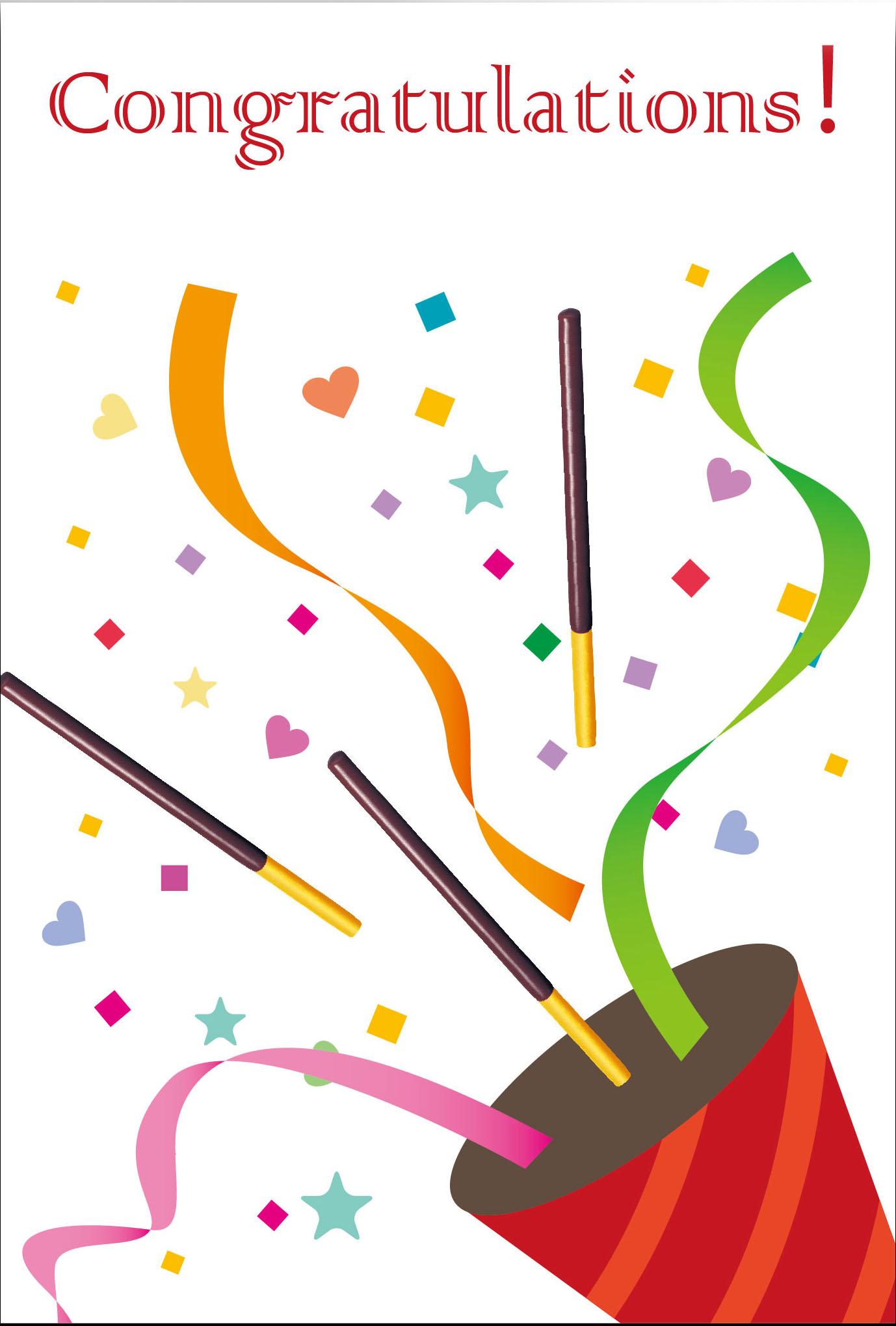 congratulations クラッカー レッド ポッキーオリジナルシェアハピネス